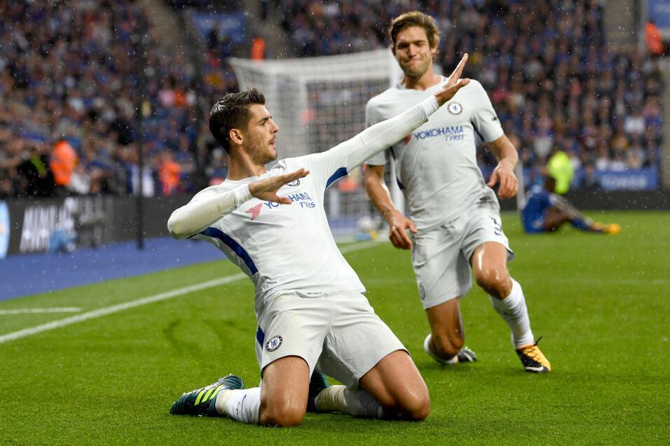 Morata registró su tercer gol con el Chelsea.