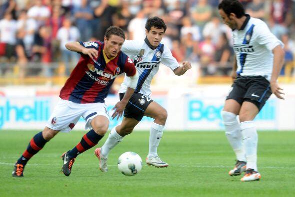El uruguayo 'Ruso' Pérez fue un león en la mitad de la cancha del Bologna.