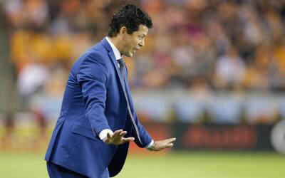 Wilmer Cabrera con el Houston Dynamo