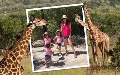 De safari, la nueva aventura de Jacquie Bracamontes y sus hijas