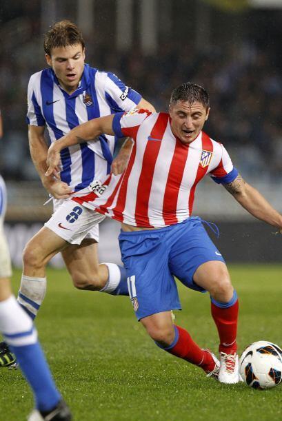 """El """"Cebolla"""" Rodríguez ingresó en el segundo tiempo pero fue bien marcado."""