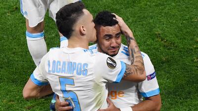 Payet tocó la copa de Europa League y ni siquiera pudo terminar la final con Marsella
