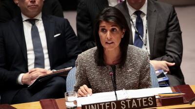 Nikki Haley, embajadora de EEUU ante Naciones Unidas.
