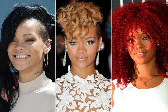 De cortos a largos, de chinos a lacios, de recogidos a sueltos. Rihanna...