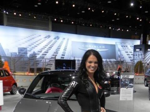 Chicas del Chicago Auto Show 2012.