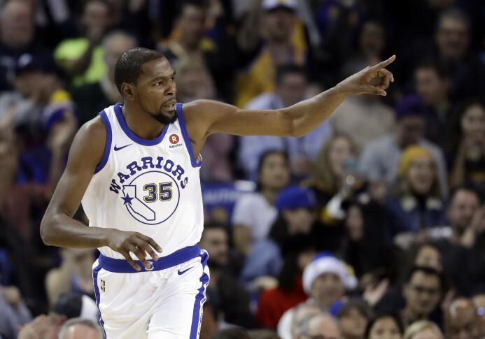 16. Kevin Durant (Golden State Warriors) - 25 millones de dólares