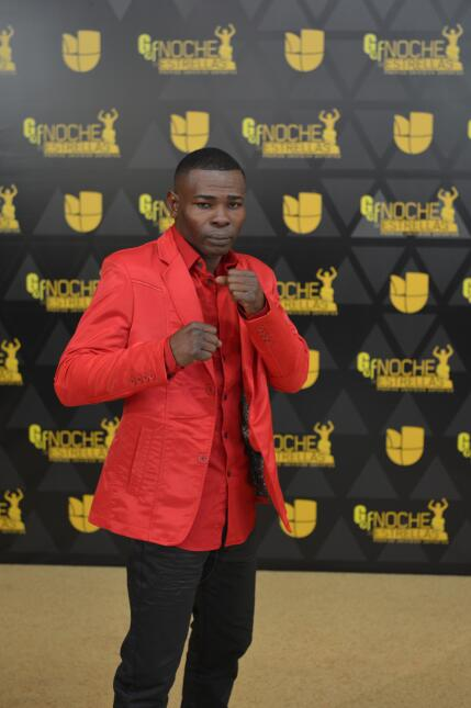 El boxeador cubano Guillermo Rigondeaux listo para dar la pelea en la al...