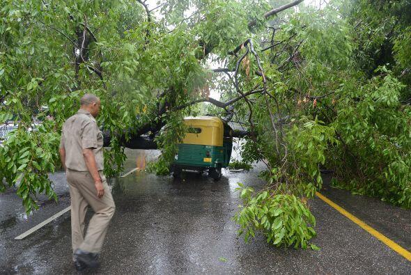 En el estado occidental de Gujarat, las fuertes tormentas causaron el do...
