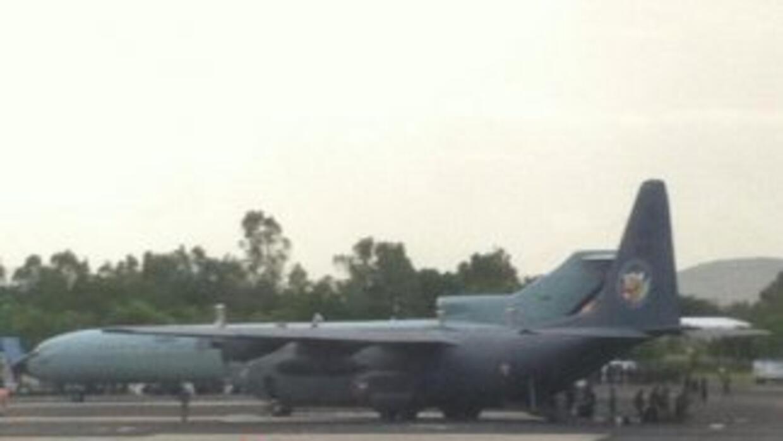 Arribo de fuerzas federales a Oaxaca. (Imagen tomada de Twitter).