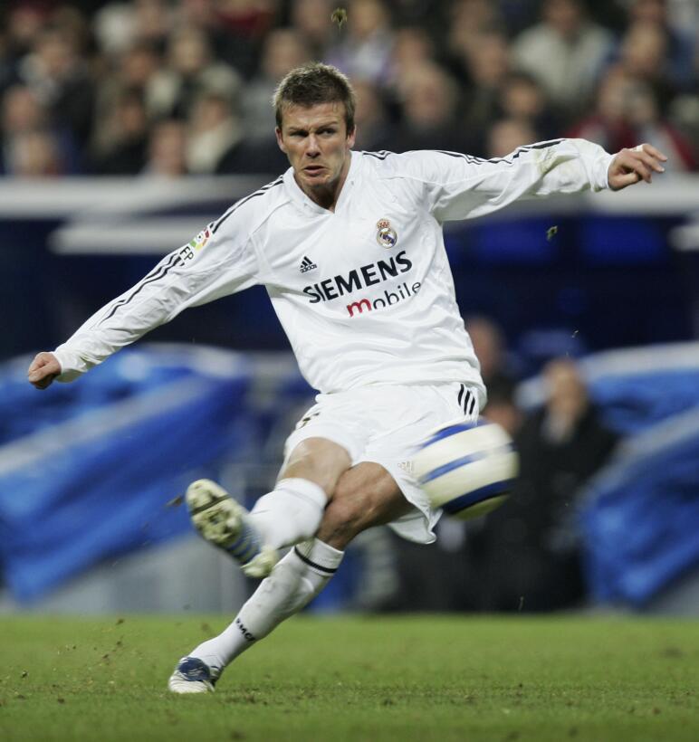 David Beckham (Retirado) - Con 17 años llegó el debut profesional del &#...