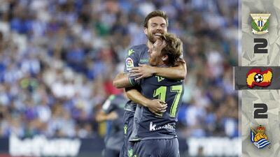 Le 'robaron' el empate a la Real Sociedad de Héctor Moreno