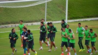 México entrenó en Natal previo a su duelo frente a Brasil.