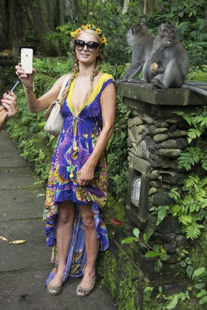 Parece como si nunca hubiera estado en Bali la rubia Paris.