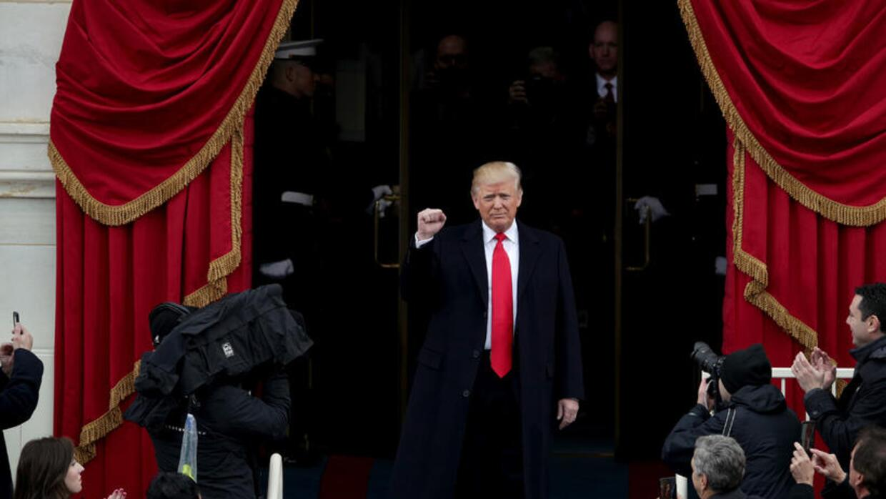 Donald J. Trump arrives to be sworn in as 45th President of the United S...