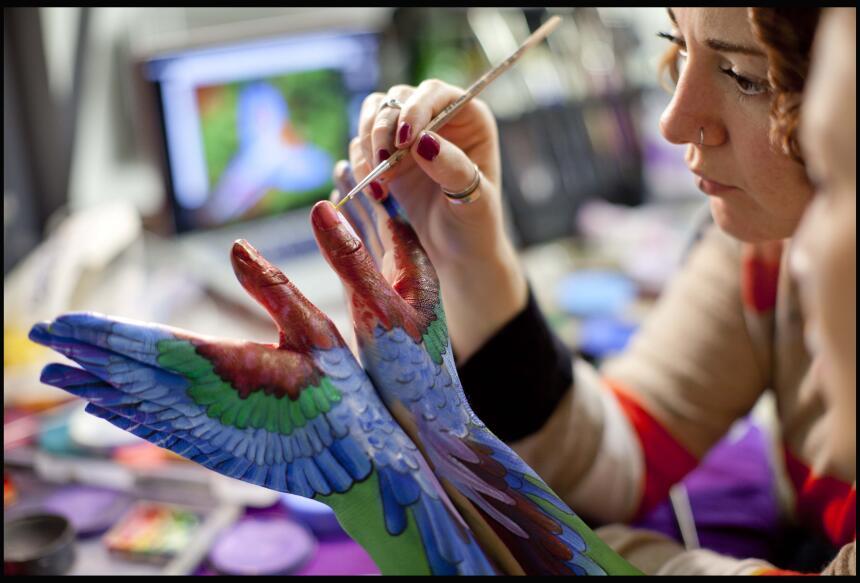 Body paint de animales