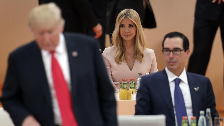 Ivanka Trump en la cumbre del G-20 en Hamburgo, Alemania.