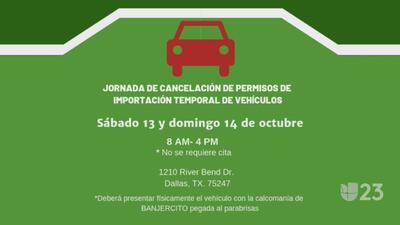 Todo listo para la jornada de cancelación de permisos de importación temporal de vehículos