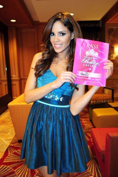 Mayra Matos de Puerto Rico, audicionó en Houston. Ella es una de bellas...
