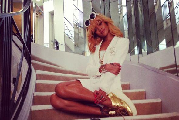 """""""¡La escalera!""""-Rihanna."""