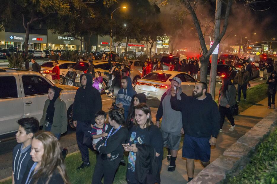 Manifestantes protestan el miércoles 22 de febrero en las calles de Anah...