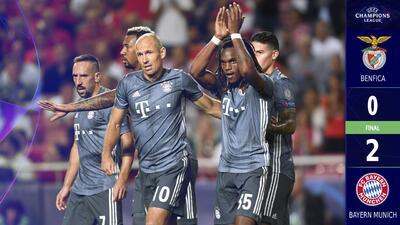 Bayern Munich domina al Benfica y se estrena con victoria en Lisboa