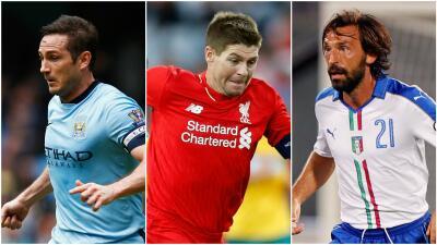 Frank Lampard, Steven Gerrard, Andrea Pirlo