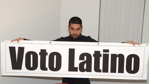 Actor Wilmer Valderrama promotes the Latino vote at an event in Miami in...