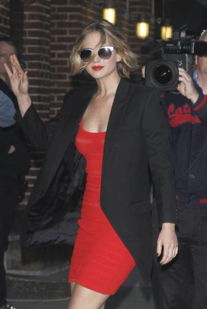 Jennifer Lawrence apareció luciendo espectacular en Nueva York.