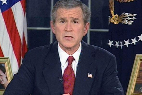 En marzo de 2003, el entonces presidente George W, Bush anunciaba el ini...