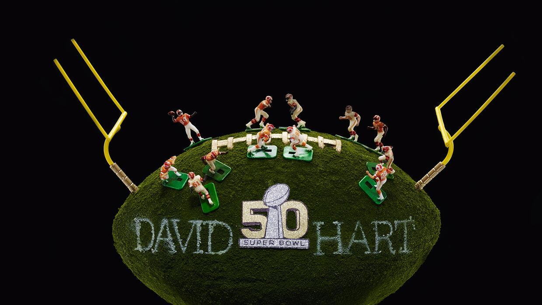 Esta recreación del Super Bowl fue creada por David Hart
