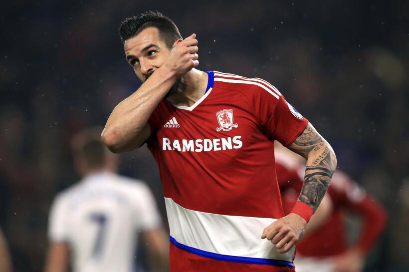 Luego del descenso con Middlesbrough, Álvaro Negredo se podría quedar en...