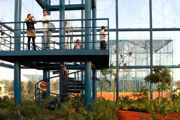 Jardín Natura del Parque Bicentenario, en DF. Está formado por jardines...