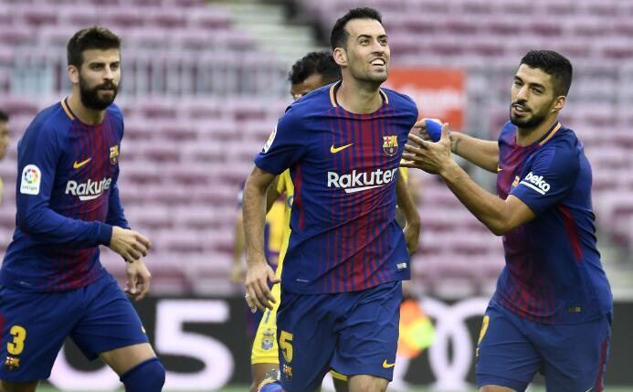 El Barça goleó a Las Palmas, en un Camp Nou sin público gettyimages-8562...