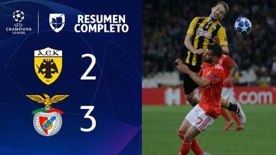 AEK 2-3 Benfica- GOLES Y RESUMEN - Grupo E UEFA Champions League