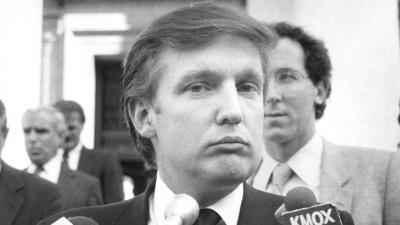Donald Trump en los años 80. Según un reportero de la revista Forbes, el...