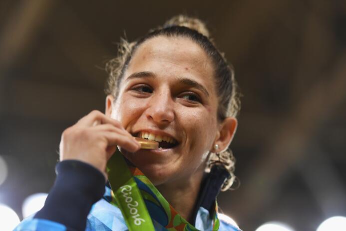 La argentina Paula Pareto ganó el primer oro para argentina al imponerse...