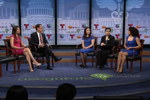 Luego de la intervención del presidente Barack Obama, las panelistas inv...