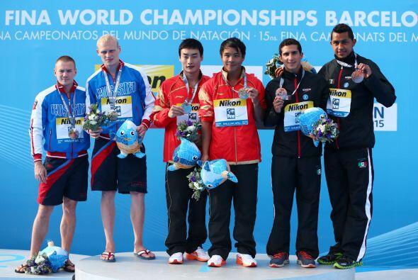 Cayó el segundo podio para México en el Mundial de Natación en Barcelona...