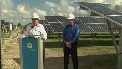 Alcalde de Miami-Dade recorrió la planta de energía solar con la que se espera beneficiar a miles de personas