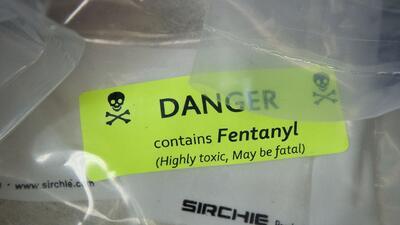 Incautan 118 libras de fentanilo, suficiente para matar a más de 26 millones de personas