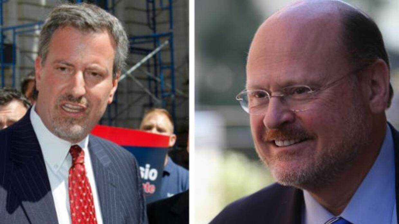 Los candidatos Bill de Blasio y Joe Lhota participarán en tres debates e...