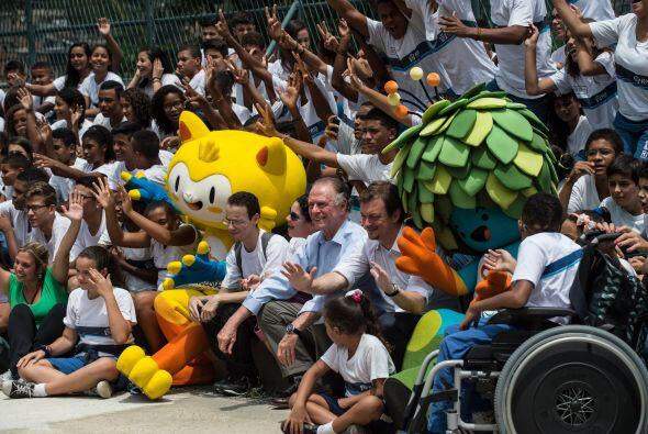 Las mascotas fueron llevadas a la calle para compartir con los brasileños.
