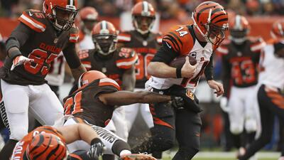 "Bengals 37-3 Browns: Cleveland dominó la ""Batalla de Ohio"" (video)"