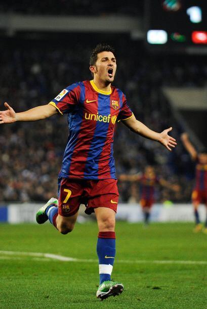 Delantero por el centro: David Villa (España/Barcelona).