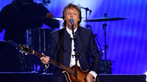 INDIO, CA - OCTOBER 15: Musician Paul McCartney performs during Desert T...