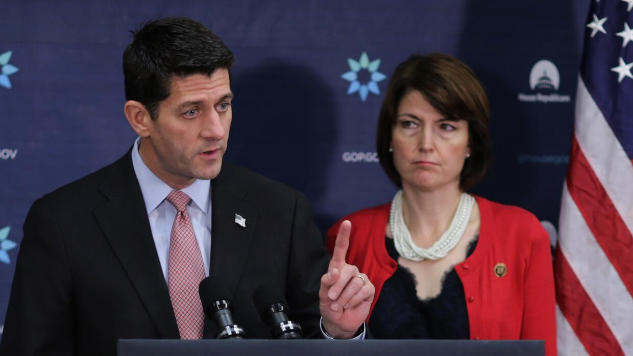 Paul Ryan (izqda) y Cathy McMorris Rogers