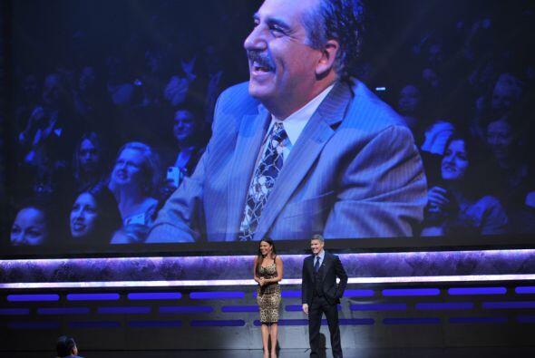 Sofía aprovechó la oportunidad de saludar a su amigo Fernando Fiore.