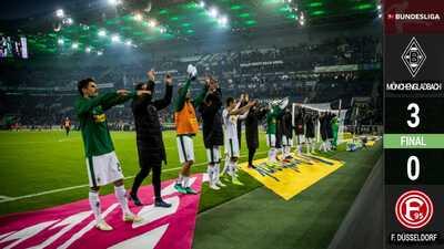 El Gladbach vence al Düsseldorf y se monta al segundo lugar, por encima del Múnich