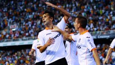 Jonás volvió a ser decisivo para el Valencia.