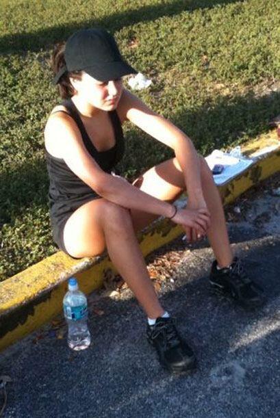 Esta chica, por ejemplo, dejó ver su desconsuelo con el entrenamiento de...